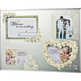 ご愛顧感謝 フォトフレーム ガラス ミラー ご結婚祝い かわいい HF-05811 /エターナリーローズ フォトフレーム 4ウィンドースペシャル(ホワイト) 壁掛、卓上両用 HF-05811