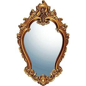 鏡 ミラー おしゃれ かわいい GM-20012 /グレース アート ミラー 「アリストクラシー(アンティークゴールド)」 壁掛用 GM-20012