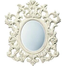 鏡 ミラー おしゃれ かわいい GM-30011 /グレース スタイル ミラー 「アルゴス(アンティークホワイト)」 壁掛用 GM-30011