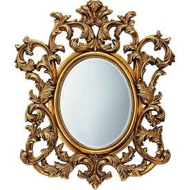 鏡 ミラー おしゃれ かわいい GM-30012 /グレース スタイル ミラー 「アルゴス(アンティークゴールド)」 壁掛用 GM-30012