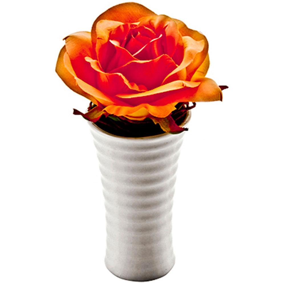 お祝い 御祝い プレゼント アレンジメント クリエイティブフラワーアート ロングベース ローズ オレンジ ご出産祝い ご結婚祝い 婚礼 長寿 記念品