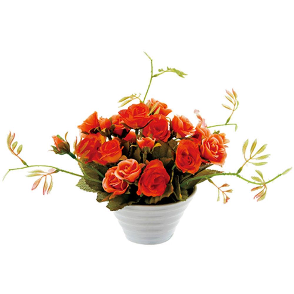 アレンジメント クリエイティブフラワーアート フルローズ オレンジ ご出産祝い ご結婚祝い 婚礼 長寿 記念品