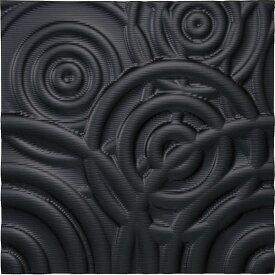 壁掛け飾り オブジェ お祝い 記念品 おしゃれ かわいい | プラデック ウォール アート 「リップル(ブラック)」 | 3D絵画 PL-16502 | 絵画 |