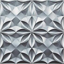 壁掛け飾り オブジェ お祝い 記念品 おしゃれ かわいい | プラデック ウォール アート 「ビッグフローラル(シルバー)」 | 3D絵画 PL-18018 | 絵画 |