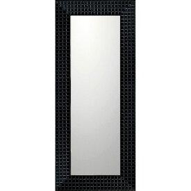 鏡 ミラー おしゃれ かわいい BM-14031 /デコラティブ 大型ミラー タイル 「ロング(ブラック)」 壁掛用 BM-14031