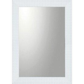鏡 ミラー おしゃれ かわいい BM-20022 /デコラティブ 大型ミラー タイル 「長方形(ホワイト)」 壁掛用 BM-20022