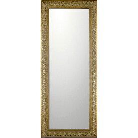 鏡 ミラー おしゃれ かわいい BM-14034 /デコラティブ 大型ミラー 「ロング(ゴールド)」 壁掛用 BM-14034