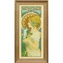 壁掛け飾り 絵画 お祝い 記念品 おしゃれ かわいい AM-20021 /アルフォンス ミュシャ 「羽根」 AM-20021