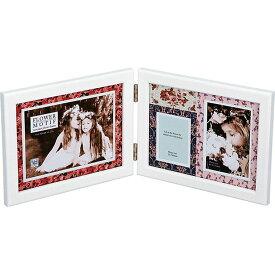 ご愛顧感謝 ご出産祝い ご結婚祝い かわいい 木製フォトフレーム お祝い 御祝 FF-04071 /フォトフレーム フラワー モチーフ 6ウィンドー FF-03572