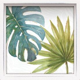 壁面飾り 卓上 絵画 おしゃれ かわいい LA-01208 /ロハス ミニアートフレーム リサ オーディット 「トロピカル ブラッシュ8」 壁掛、卓上両用 LA-01208