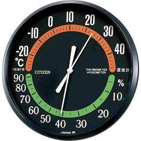 お祝い 御祝 温度計 湿度計 9CZ013-002 /リズム時計 シチズン 温湿度計 TM42−3 9CZ013-002 黒新築祝い 竣工記念 開店祝い 開業祝い