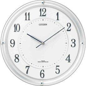 名入れ対応可 電波時計 掛け時計 4MY817-003 /リズム時計 シチズン 電波掛け時計 4MY817−003 4MY817-003 白パール色新築祝い 竣工記念 開店祝い 開業祝い