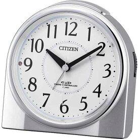 名入れ対応可 目覚まし時計 4RL432-019 /リズム時計 シチズン めざまし時計 ネムリーナリング 4RL432-019 シルバーメタリック色(白)新築祝い 竣工記念 開店祝い 開業祝い