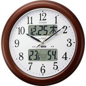 名入れ対応可 電波時計 掛け時計 4FY620-006 /リズム時計 シチズン 電波掛け時計 インフォームナビEX 4FY620-006 茶色半艶仕上(白)新築祝い 竣工記念 開店祝い 開業祝い
