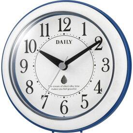 名入れ対応可 インテリアクロック 4KG711DN04 /リズム時計 シチズン 掛け時計 アクアパークDN 4KG711DN04 青(白)新築祝い 竣工記念 開店祝い 開業祝い