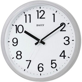 名入れ対応可 インテリアクロック 4KGA06DN19 /リズム時計 シチズン 掛け時計 フラットフェイスDN 4KGA06DN19 シルバーメタリック色(白)新築祝い 竣工記念 開店祝い 開業祝い