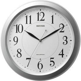 名入れ対応可 電波時計 掛け時計 4MYA26SR19 /リズム時計 シチズン 電波掛け時計 ピュアライトM26 4MYA26SR19 シルバーメタリック色(白)新築祝い 竣工記念 開店祝い 開業祝い