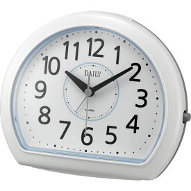 名入れ対応可 目覚まし時計 4SE550DN04 /リズム時計 シチズン めざまし時計 デイリーR550 4SE550DN04 白(青)新築祝い 竣工記念 開店祝い 開業祝い