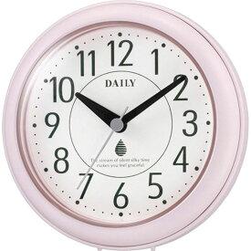 名入れ対応可 インテリアクロック 4KG711DN13 /リズム時計 シチズン 掛け時計 アクアパークDN 4KG711DN13 ピンク(白)新築祝い 竣工記念 開店祝い 開業祝い