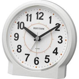 名入れ対応可 目覚まし時計 8RE658SR03 /リズム時計 シチズン めざまし時計 ピュアライトR658 8RE658SR03 白(白)新築祝い 竣工記念 開店祝い 開業祝い