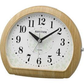 名入れ対応可 目覚まし時計 8RE662SR07 /リズム時計 シチズン めざまし時計 マイキーR662 8RE662SR07 薄茶木目仕上(白)新築祝い 竣工記念 開店祝い 開業祝い