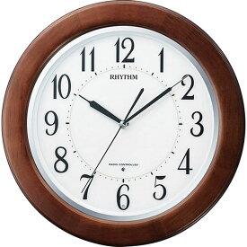 名入れ対応可 電波時計 掛け時計 8MY461SR06 /リズム時計 シチズン 電波掛け時計 リバライトF461SR 8MY461SR06 茶色半艶仕上(白)新築祝い 竣工記念 開店祝い 開業祝い