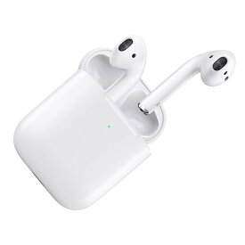 AirPods with Wireless Charging Case 第2世代 最新モデル エアーポッズ Apple 純正品 アップル ワイヤレス充電 イヤホン マイク付き Bluetooth対応 MRXJ2J/A 【ギフト対応不可】【送料無料】