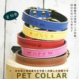 メール便 送料無料 犬 首輪 かわいい 犬用 ペット 首輪 SS S M 印刷 名入れ 印刷 迷子札 迷子札 電話番号 おしゃれ 何かあった時のために もしもの時に安心 犬グッズ ペット用品 かっこいい