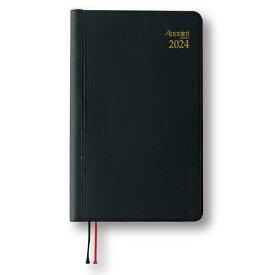 ダイゴー 2022年1月始まり アポイント Appoint E1002 1週間+横罫 鉛筆付き 手帳(ミニ)サイズ ブラック