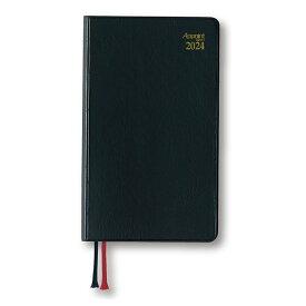 ダイゴー 2022年1月始まり E1007 月曜日始まり アポイントダイアリー 手帳ブラック 見開き1週間