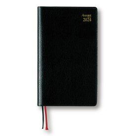 ダイゴー 2022年1月始まり アポイント Appoint E1023 1週間+横罫 手帳(ミニ)サイズ ブラック