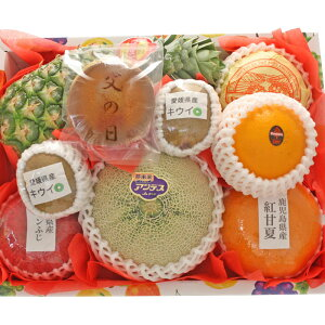 【ギフトパーク】【2021年 父の日 ギフト】父の日どら焼きとフルーツセット(M) 父の日限定デザインメッセージカード・名入れのし付きフルーツギフト 果物 詰め合わせ 父の日 プレゼント 和