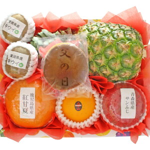 【ギフトパーク】【2021年 父の日 ギフト】父の日どら焼きとフルーツセット(S) 父の日限定デザインメッセージカード・名入れのし付きフルーツギフト 果物 詰め合わせ 父の日 プレゼント 和