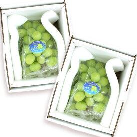 [ギフトパーク]岡山県産シャインマスカット 2房 化粧箱入り(1房あたり700g以上)【送料無料】ぶどう ブドウ 葡萄 贈り物 果物 通販 勤労感謝の日 お歳暮 御歳暮 フルーツギフト フルーツ ギフト