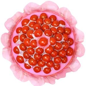 [ギフトパーク]トマトギフトセット[ハッピートマトバスケット]オシャレな野菜詰め合わせ 栄養満点 大きめプチトマト約50個 盛り合わせ プレゼント 誕生日 ベジタリアン ミニトマト お中元