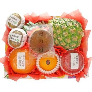 【ギフトパーク】【2021年 母の日 ギフト】母の日どら焼きとフルーツセット(S) 母の日限定デザインメッセージカード・名入れのし付きフルーツギフト 果物 詰め合わせ