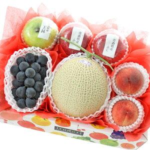 [ギフトパーク]お祝い お見舞い 果物 詰め合わせ 夏の国産フルーツBOX【福】静岡県産クラウンメロンまたはアローマメロン入り 誕生日 記念日 お祝い プレゼント バースデー 御中元 お中元