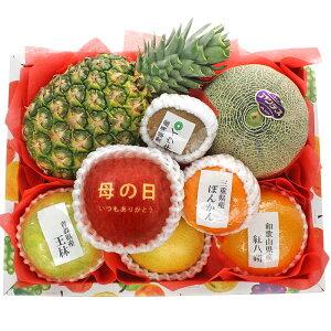 【ギフトパーク】【2021年 母の日 ギフト】母の日メッセージアップル入りフルーツセット(M) 母の日限定デザインメッセージカード・名入れのし付きフルーツギフト 果物 詰め合わせ メロン入