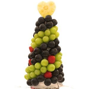 [ギフトパーク]お中元 果物 詰め合わせ【ぶどうタワー】ハッピーカラフルーツフラワーギフト カットフルーツ盛合せ サプライズプレゼント 結婚記念日 結婚内祝い 誕生日 ケーキより喜ばれ