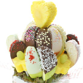 [ギフトパーク]お中元 プレゼント チョコ りんご【チョコアップルフラワー】カットフルーツフラワー フルーツブーケ 果物ギフト リンゴ 林檎 チョコレート フルーツギフト サプライズ プレゼント 果物詰め合わせ お菓子 スイーツ 敬老の日