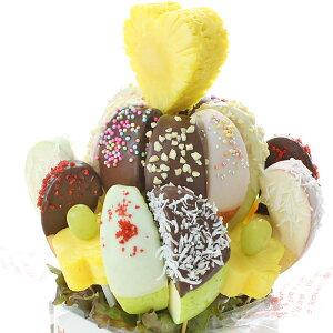 [ギフトパーク]クリスマス スイーツ お菓子 詰め合わせ ギフト【チョコアップルフラワー】チョコフォンデュフルーツ サプライズプレゼント 誕生日 結婚記念日 結婚内祝い フルーツギフト