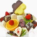[ギフトパーク]パーティー料理 カットフルーツ盛り合わせ【チョコパインフラワー】フルーツフラワー りんご リンゴ 林…