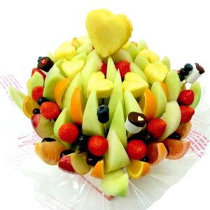 [ギフトパーク]果物 詰め合わせ【エリザベス】フルーツフラワーギフト カットフルーツ盛合せ サプライズプレゼント 結婚記念日 結婚内祝い 誕生日 ケーキより面白い珍しい喜ばれる 贈り物