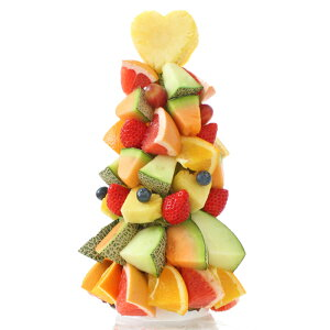 [ギフトパーク]春のお祝い プレゼント チョコ以外【フルーツタワー】ハッピーカラフルーツフラワー タワーケーキ 果物 ギフト フルーツギフト サプライズギフト 果物詰め合わせ カットフ