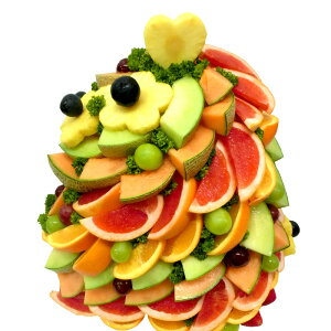 [ギフトパーク]パーティー料理 カットフルーツ盛合せ【フルーツマウンテン】ハッピーカラフルーツフラワーギフト サプライズプレゼント 結婚記念日 結婚内祝い 誕生日 ケーキより喜ばれ