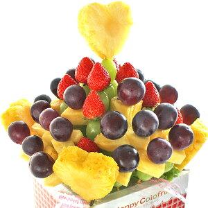 [ギフトパーク]バースデーギフト フルーツギフト[秋のハートブーケ]誕生日 バースデーケーキ 結婚記念日 サプライズプレゼント パーティー 果物盛り合わせ 贈り物 喜ばれる スイーツ フル