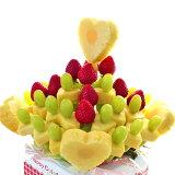 [誕生日ケーキ][バースデーケーキ][バースデー][バースデーギフト][誕生日][ギフト][プレゼント]ハッピーカラフルーツハートブーケ[果物][くだもの][フルーツ][ギフト][贈り物][贈答品][お祝い][記念日]