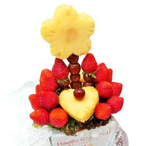 [ギフトパーク]果物 イチゴ 詰め合わせ【いちごブーケ】ハッピーカラフルーツフラワーギフト カットフルーツ盛合せ サプライズプレゼント 結婚記念日 結婚内祝い 誕生日 いちごケーキより