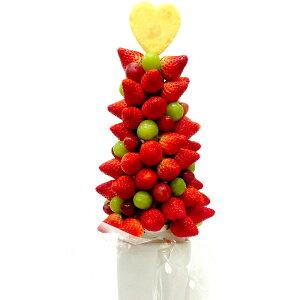 [ギフトパーク]果物 イチゴ 苺 詰め合わせ【いちごタワー】フルーツフラワーギフト カットフルーツ盛り合わせ サプライズ プレゼント 結婚記念日 結婚内祝い 誕生日 いちご ケーキより面白