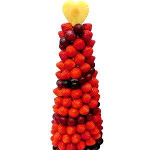 [ギフトパーク]果物 イチゴ 苺 詰め合わせ【いちごタワーBIG】フルーツフラワーギフト カットフルーツ盛り合わせ サプライズ プレゼント 結婚記念日 結婚内祝い 誕生日 いちごケーキより面